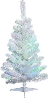 Pre Lit Christmas Tree With Colored And White Lights Noma 3 Foot Pre Lit Christmas Tree With Lights White Tabletop Tree Color Changing Led Bulbs Warm White And Multicolor Lights