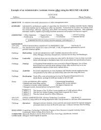 Administrative Assistant Resume Objective The Best Resume