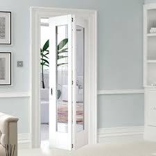glass bifold doors. Shaker 1L Glazed White Primed Bifold Door Glass Doors
