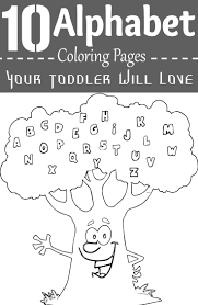 10 Alphabet Coloring Pages Your Toddler