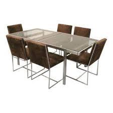 milo baughman furniture. Milo Baughman For Design Institute Of America Chrome And Glass Dining Set Furniture