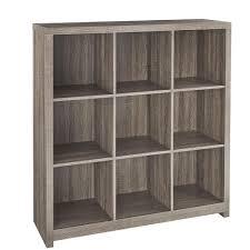closetmaid 37 in x 39 in premium weathered teak 9 cube organizer