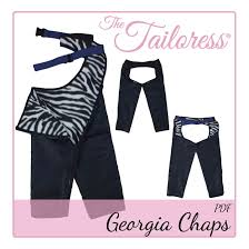 Chaps Swimwear Size Chart Georgia Equestrian Country Cowboy Cowgirl Chaps Pdf Sewing Pattern