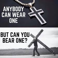 Anybody can wear one But can you bear one? ❤ ❤   Bible Verses ...