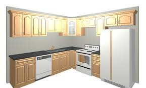 here is a typical 10x10 kitchen design usually 10 12 cabinets involved with 30 wall cabinets the special includes cabinets and select granite counter tops