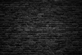 Black Brick Wall Dark Background For Design Stock Image Image of
