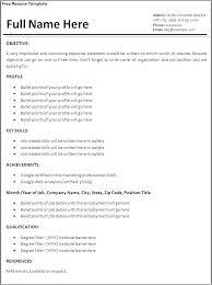 Simple Resume Sample Format Professional Sample Resume Format Extraordinary Simple Resume Samples Free