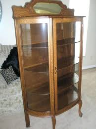 antique curio cabinet with curved glass antique co oak china cabinet curved glass w curio cabinets