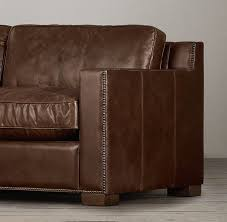 Amazing leather sofa ideas nailheads Nailhead Sectional Collins Leather Sofa With Nailheads Restoration Hardware Chimneypartsinfo Unique Collins Leather Sofa With Nailheads Restoration Hardware