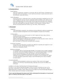 Beverage Manager Job Description Food Service Jobs Description ...