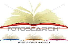 ilration of a set of cartoon opened books in four diffe colors with flipping pages k9214524 foto search stock photo photograph royalty free