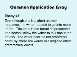 common app short response essay