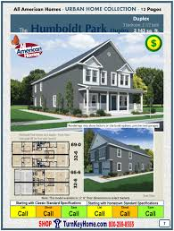 Small Picture Humboldt Two Story Duplex Modular Home Price form All American Homes