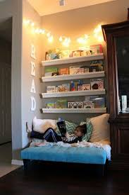 Kids Room: Cozy Kids Reading Corner With Lighting Decor - 20 Cozy DIY  Reading Nooks