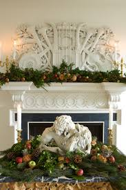 image result for beautiful classic traditional Christmas fireplace mantel  decorating greenery ...