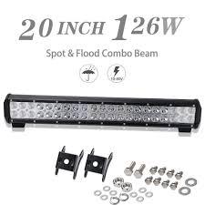20 Inch Osram Light Bar Details About 20 Inch 126w Led Light Bar Spot Flood Pick Up Wagon For Ute Cab Atv Lamp