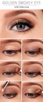 lulu s how to golden smokey eyeshadow tutorial you ve seen a smokey eye before but not quite like this we chose a neutral brown palette with a touch of