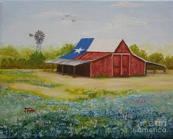 texas painting texas hill country barn by jimmie bartlett