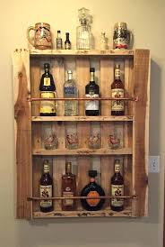 wall mounted liquor cabinet rustic pallet wood wall shelf liquor cabinet liquor bottle display home bar wall mounted