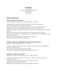 Sample Academic Librarian Resume Gorgeous Library Job Resume Best Resume Template Whizzme