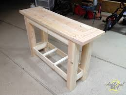 Furniture Diy Pottery Barn Sofa Table Simple On Furniture Inspired