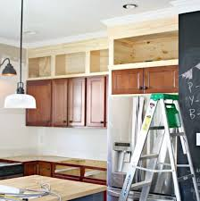 what to do with space above kitchen cabinets