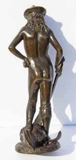 Antique Bronze Sculpture David and Goliath After Andrea del Verrocchio at  1stDibs