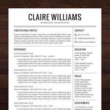 Professional Resume Template Free Download - Trenutno.info