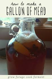 a gallon of homemade mead
