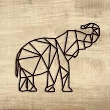 metal wall art elephant geometric