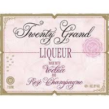 twenty grand liqueur vodka and rose chagne