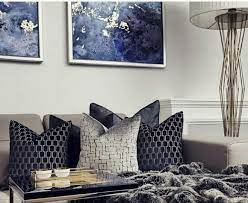 royal blue and silver bedroom ideas