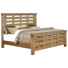 Furniture of America Jule California King Slat Bed in Weathered Elm ...