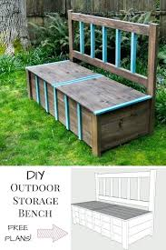 homemade storage bench diy pallet storage bench plans