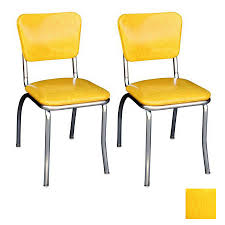 retro dining chairs yellow