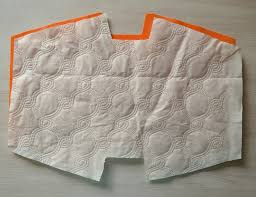 one side quilted fabric
