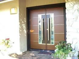 modern double front doors contemporary entry door glass exterior wood doubl