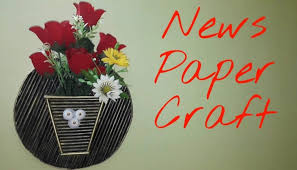 easy art and craft ideas wall hanging flower vase new design wall decor tutorial