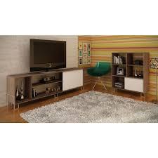 manhattan comfort nacka 1 0 oak and white entertainment center