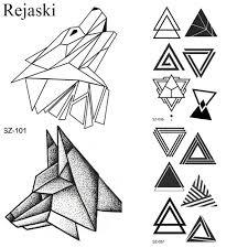 3151 руб маленькие геометрические волки временные татуировки наклейки женский
