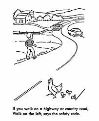 safety_coloring 009 road letter tracing worksheets, alphabet road map colouring pages on silk road map worksheet