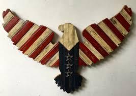 wooden eagle wall art