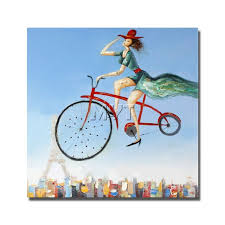 bicycle canvas wall art for sale