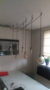 Tafellamp Losse Lampen Met Haken Ophangen Boven Eetkamer Tafel Een