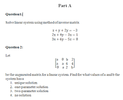 solve linear system using method of inverse matrix