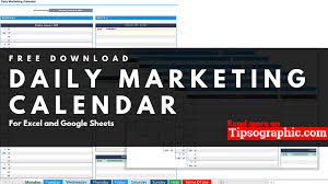 Daily Planner Template 2020 Daily Marketing Calendar Template For Excel Free Download