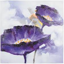 picture of purple flowers oil painting
