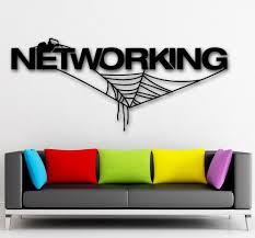 creative office wall art. Contemporary Office Creative Networking Internet Vinyl Wall Sticker Spider Web Technology IT  Mural Art Decal Shop Office Room Home Decorationin Stickers From  For