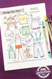 Decorate Your Own Clothes Design Your Own Paper Dolls Printable Kiddos Quiet Books Busy