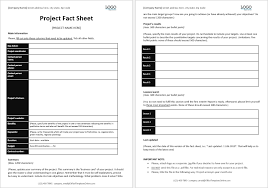 Office Tempaltes Project Fact Sheet Template Office Templates Online